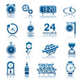 Clocks and watches icons Royalty Free Stock Photos