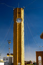Clocktower of Abu Hanifa Mosque the in Baghdad Iraq Royalty Free Stock Photo