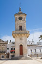 Clocktower ceglie messapica puglia italy perspective of the of Royalty Free Stock Images