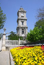 Clocktower of Dolmabahce Palace in Istanbul Royalty Free Stock Images