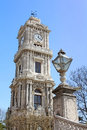 Clocktower of dolmabahce palace in istanbul turkey Royalty Free Stock Image