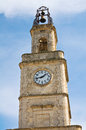Clocktower ginosa puglia italy of Royalty Free Stock Photo