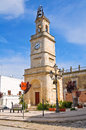 Clocktower ginosa puglia italy of Royalty Free Stock Photos