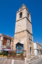Clocktower manfredonia puglia italy perspective of the of Stock Photo