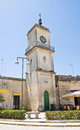 Clocktower. Martano. Puglia. Italy. Stock Photography