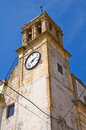 Clocktower montescaglioso basilicata italy of Royalty Free Stock Photos