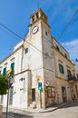 Clocktower montescaglioso basilicata italy of Royalty Free Stock Images
