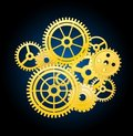 Clockwork elements Royalty Free Stock Photo