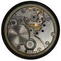 Clockwork old ussr watch alarm clock detailed macro photo Stock Images