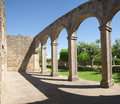 Cloister arches of episcopal palace cloisters at miranda do douro portugal Stock Image