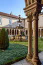Cloister detail of the s bento monastery in santo tirso portugal benedictine order built gothic and baroque church Royalty Free Stock Image