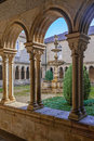 Cloister detail of the s bento monastery in santo tirso portugal benedictine order built gothic and baroque church Stock Images
