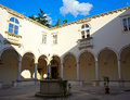 Cloister of the Friars Minor, Piran Stock Photography