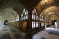 Cloister of Gloucester Cathedral England Royalty Free Stock Photo
