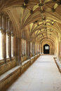 Cloister hallway Royalty Free Stock Photography