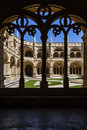 Cloister Jeronimos monastery abbey Lisbon Stock Photography