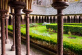 Cloister in Le Mont-Saint-Michel Royalty Free Stock Photo