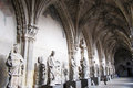 Cloister of leon the the cathedral in spain Royalty Free Stock Images