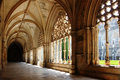 Cloister of the monastery of batalha santa maria da vitoria portugal late gothic architecture in manueline style Stock Photo