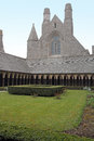 Cloister Mont Saint Michel Royalty Free Stock Photo
