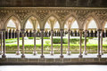 Cloister of Mont St. Michel Royalty Free Stock Photos