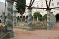 Cloister of Santa Chiara in Naples Royalty Free Stock Photos