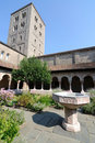 Cloisters Courtyard Royalty Free Stock Photo