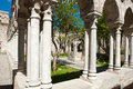 Cloisters san giovanni palermo of the church of in sicily italy ancient carved marble columns Royalty Free Stock Images