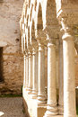 Cloisters san giovanni palermo of the church of in sicily italy ancient carved marble columns Stock Image