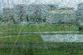 Clone look in every drop raindrops on the glass Royalty Free Stock Image