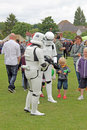 Clone troopers this photo shows the famous trooper characters from the famous star wars series these were on hand to help Royalty Free Stock Photography