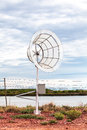 Clone wind turbine for produce electric power in small village Royalty Free Stock Images