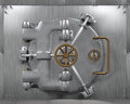 Close bank vault door d render Royalty Free Stock Image