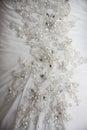 Close detail on wedding dress Royalty Free Stock Photo