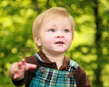 Close focus on a toddler boy's face Stock Photos