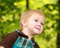 Close focus on a toddler boy's face Royalty Free Stock Image