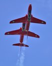 Close formation a pair of red arrows in Stock Photos