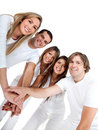 Close group of friends Royalty Free Stock Photo