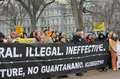 Close Guantanamo demonstrations Royalty Free Stock Photos
