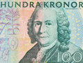 Close look of face value swedish kronor Stock Photos