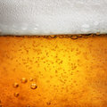 Close macro image of glass of beer Royalty Free Stock Photo