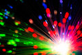 Close op of fiber optics defocused background Royalty Free Stock Photography