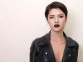 Close portrait of beautiful brunet woman Royalty Free Stock Photo