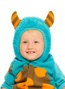 Close portrait of a boy in monster costume Royalty Free Stock Photo