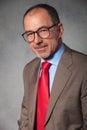Close portrait of elegant senior businessman Royalty Free Stock Photo