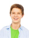 Close portrait of nice smiling boy Royalty Free Stock Photo