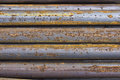 Close of rusty iron rods 4 Royalty Free Stock Photo