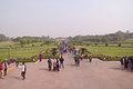 Close to lotus temple in delhi january new india people comes bahai Royalty Free Stock Photography