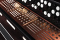 Close-up accordion against a black background Royalty Free Stock Photo