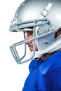 Close-up of American football player Royalty Free Stock Photo